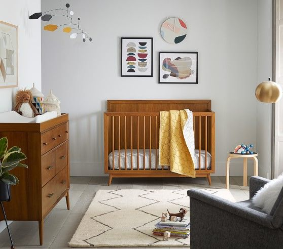 West Elm X Pbk Mid Century 4 In 1 Convertible Crib White Ups