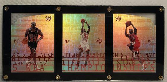1997 98 Upper Deck Michael Jordan UD3 MJ3 1 MJ3 2 MJ 3 in Display Case Mint #MichaelJordan #Upperdeck #Champion