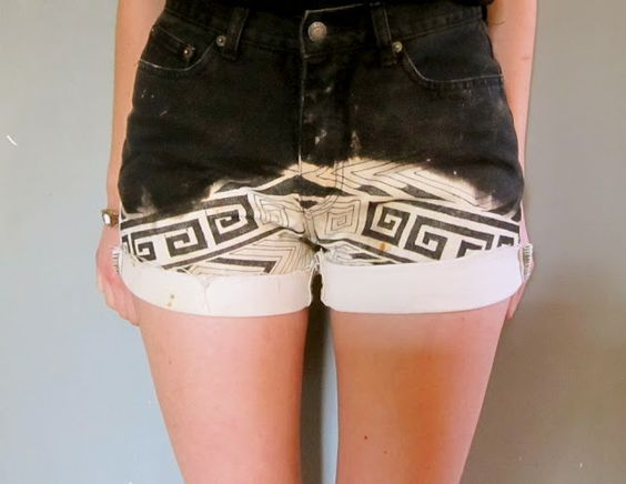 Prudence and Austere: DIY Dip Dye Tribal Shorts