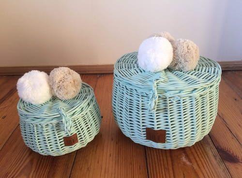Wiklinowe Szkatulki Do Pokoju Dziecka Mietowe Wicker Decorative Wicker Basket Kids Room
