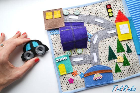 Quiet book. Developing toy (12m+) / Smart book, busy book, educational toy