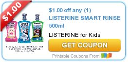 Tri Cities On A Dime: SAVE $1.00 ON ANY LISTERINE SMART RINSE FOR KIDS