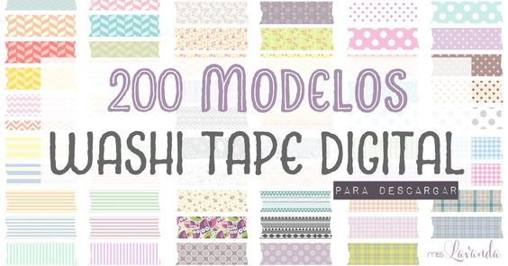 DM + Freebies: 200 modelos de washi tape digital para descargar | Miss Lavanda