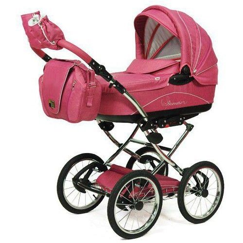 knorr baby classico pram stroller air tyres pink collection 2014 baby pinterest pram. Black Bedroom Furniture Sets. Home Design Ideas