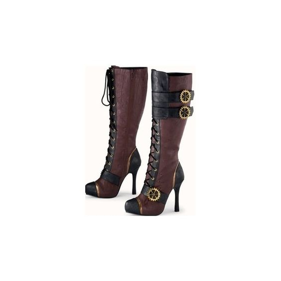 steampunk boots | Shoes! Shoes! Shoes! ❤ liked on Polyvore featuring shoes, boots, steampunk, steampunk boots, steam punk boots, steam punk shoes and steampunk shoes