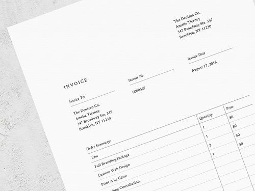The Denizen Co Shop Invoice Template Online Accounting Services Templates