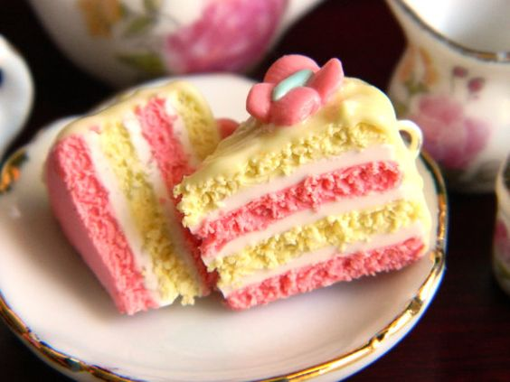 Cake slices, Fluttershy and Pastel pink