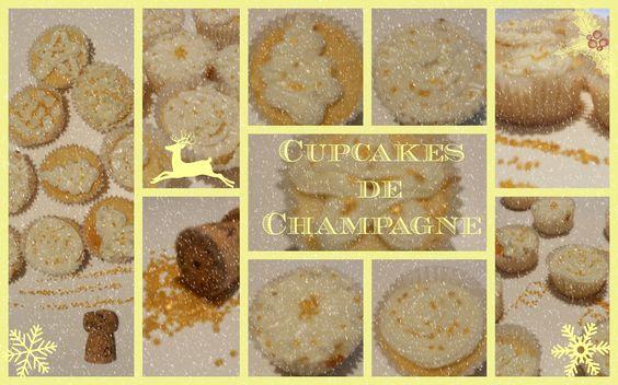 Cupcake de champán. Champagne cupcake!