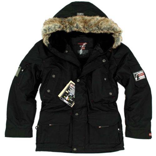 Geographical-Norway-calido-forrado-Hombre-Alaska-Chaqueta-De-Invierno-Parka