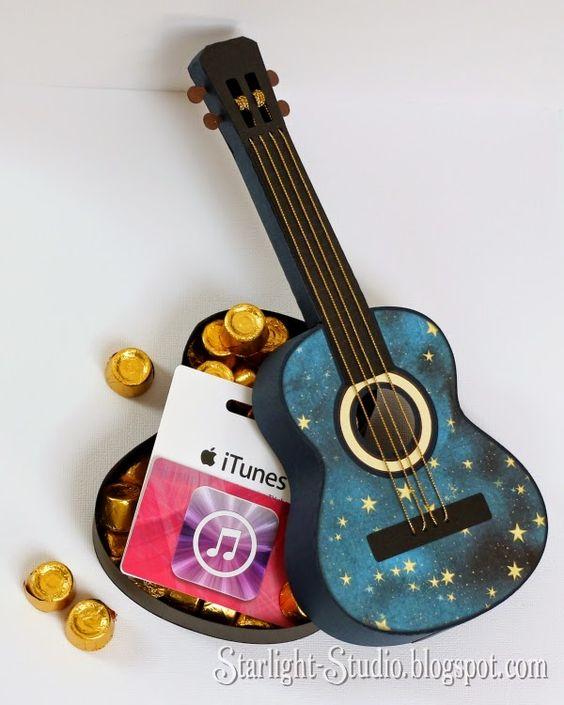 Guitar Gift Ideas : denni 39 s gorgeously cool paper guitar gift box from svgcuts svgfiles papercrafts birthday ~ Hamham.info Haus und Dekorationen
