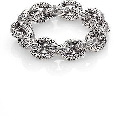 Konstantino Sterling Silver Carved Link Bracelet