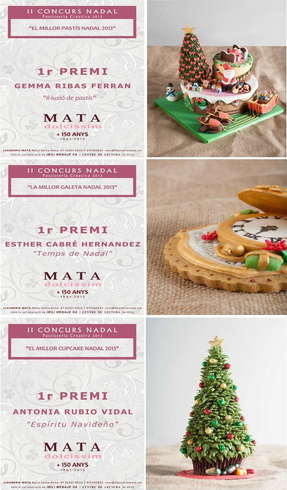 Estos son los ganadores del concurso navideño de repostería creativa en las categorías de tarta, galleta y cupcake organizado por  MATA Dolcíssim Crea Il-lusió, en Barcelona. Desde IBILI, enhorabuena a los ganadores!!