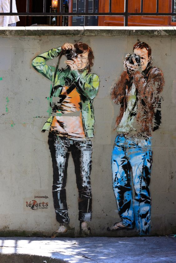 JANA & JS prolific and brilliant - their street style often involves a camera or two
