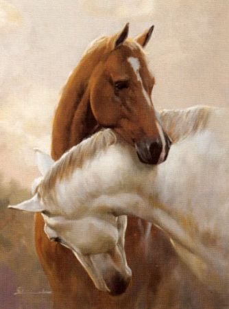 Beautiful and peintures on pinterest - Cheval dessin couleur ...