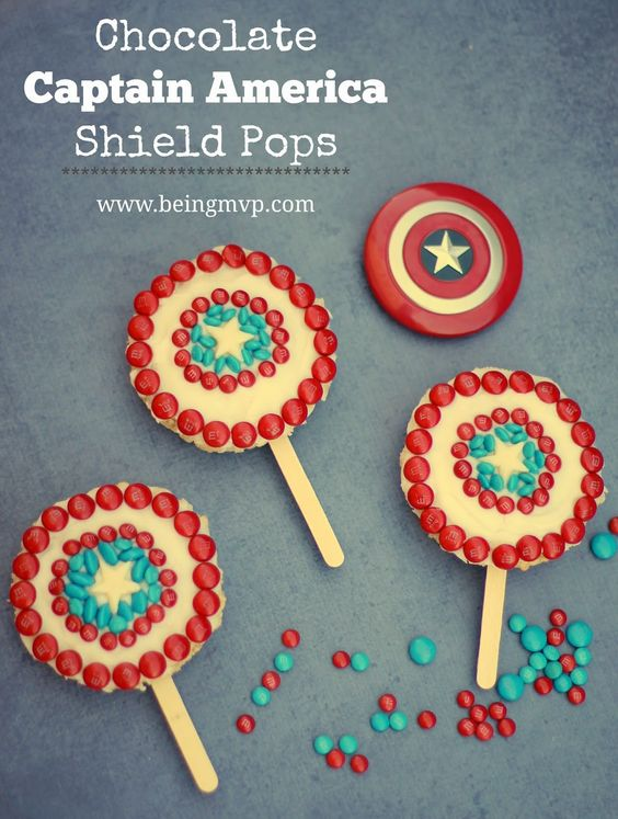 Chocolate Captain America Shield Pops {Recipe} + #coupon #HeroesEatMMs #CollectiveBias #shop