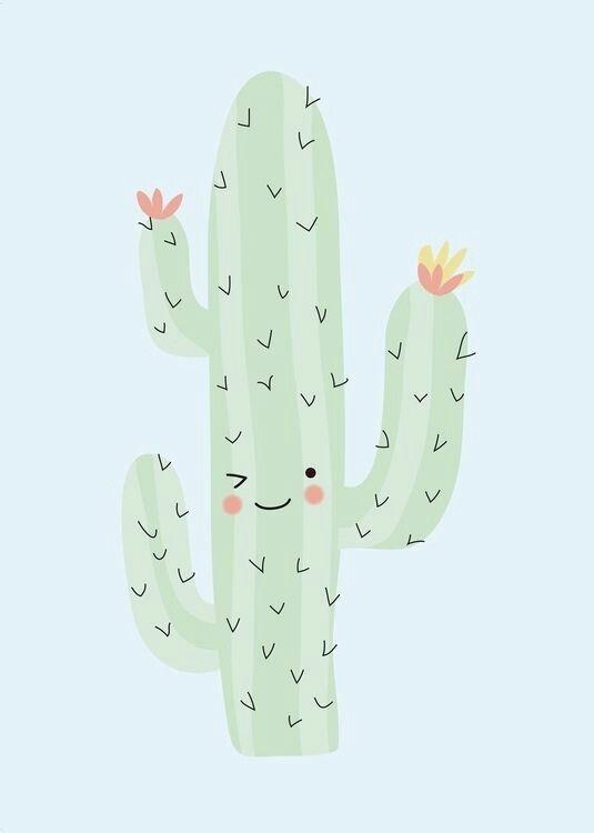 Pin By Meridian On Arte Grafico Cactus Cute Wallpapers Drawings