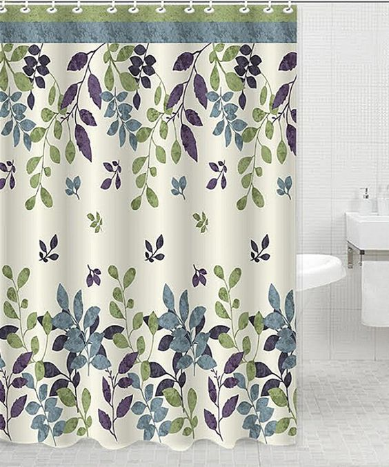Daniel's Bath & Beyond Bloom Green Shower Curtain   Curtains ...
