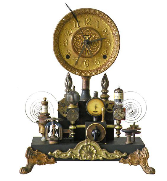 Pinterest the world s catalog of ideas - Steampunk mantle clock ...