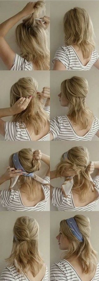 50s pin up hairstyles : 50s Hair Tutorial 14 tutorials for bandana hairstyles bandanas, 50 ...