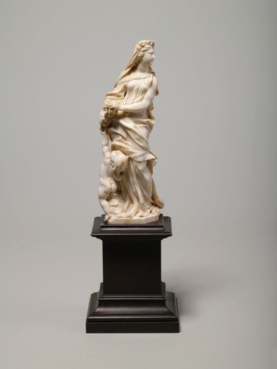 Allegory of Spring (ivory statuette (Pl.O.2457, 2458: Spring and winter from a Group of Four Seasons))        Manufacturer: county Permoser Balthasar (1651-1732)    Dated: to 1710/20