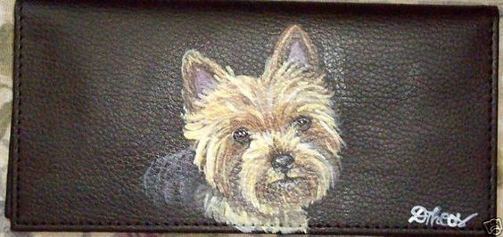Yorkshire Terrier Dog Yorkie Custom Painted by daniellesoriginals, $18.95