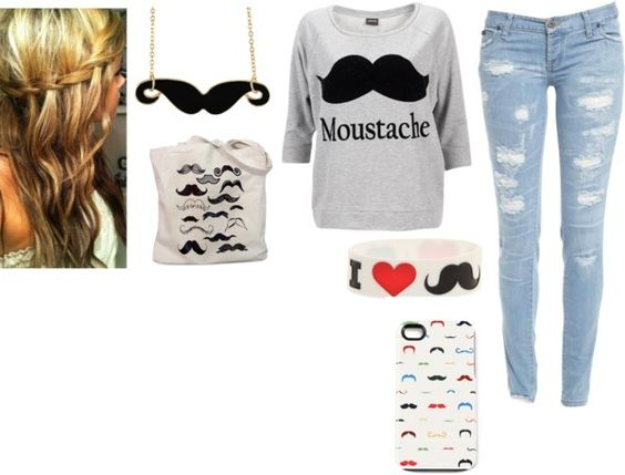 """I 3 MOUSTACHESSSS"" by peyton-snyder-1 ❤ liked on Polyvore"