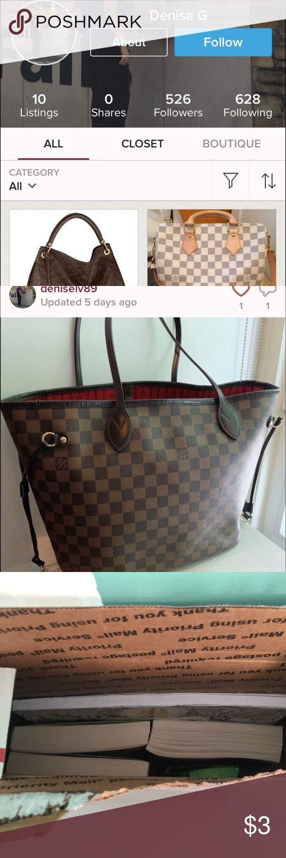 BUYERS SELLERS BEWARE of TRADES with Deniselv89 I traded an Apple Watch with this person for a Neverful LV bag. I already was suspect about it from the beginning because LV is worth so much more. I sent my item a day after she sent hers and this is what I received a bunch of books. I am currently doing a package intercept with usps so I can have my package back. I WARN YOU NOT TO TRADE WITH HER. Several others are effected as well. BE SMART Other