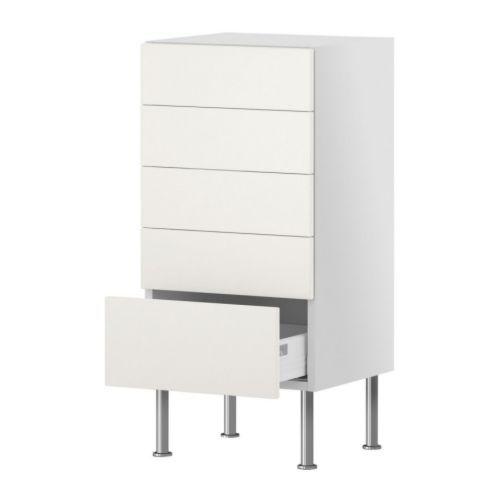 FAKTUM Unterschrank mit 5 Schubladen - Applåd weiß, 60x37 cm ...