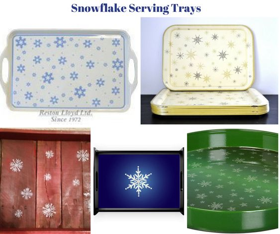 Snowflake Serving Trays