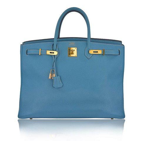 pink hermes bag price - HERMES 40cm Blue Jean Clemence & Gold Hardware Birkin Bag - Sar��h ...