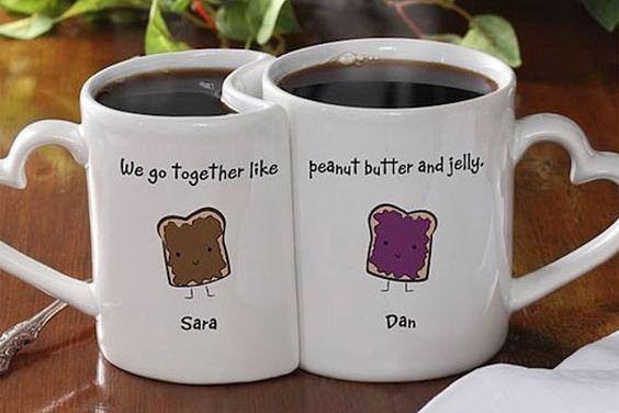 Tazas para enamorados, para empezar la mañana bien acaramelados!. Foto: Tthegadgetflow.com
