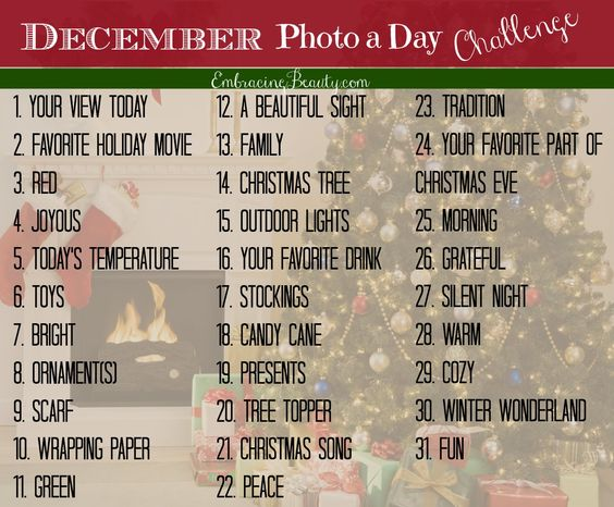 December Photo a Day Challenge #EmbracingDecember from @EmbracingBeauty