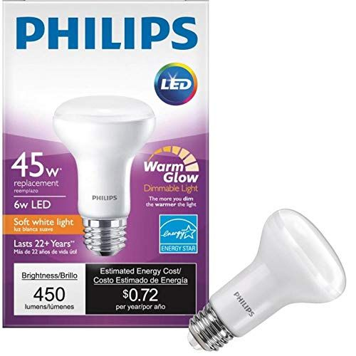 12 Pack Philips 456979 45 Watt Equivalent 2700k 2200k R20 Dimmable Soft White Led Performance Reflector See This Great Product Th Bulb Philips Led Led