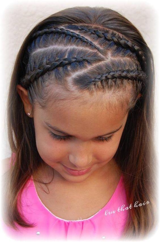 Clásico y sencillo peinados para niñas con trenzas Colección de ideas de color de pelo - 20 peinados con trenzas para niñas muy hermosos ¡Los ...