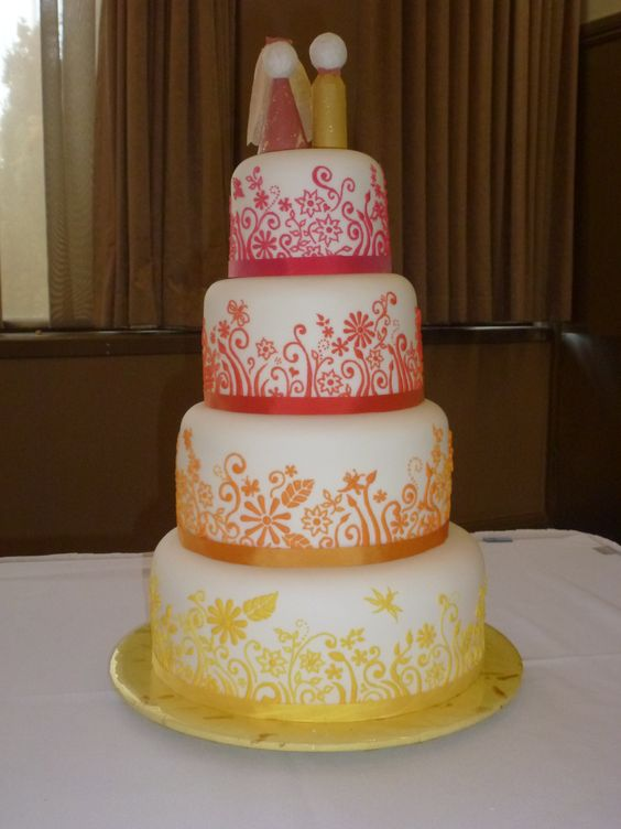 Emily and Ben's wedding cake