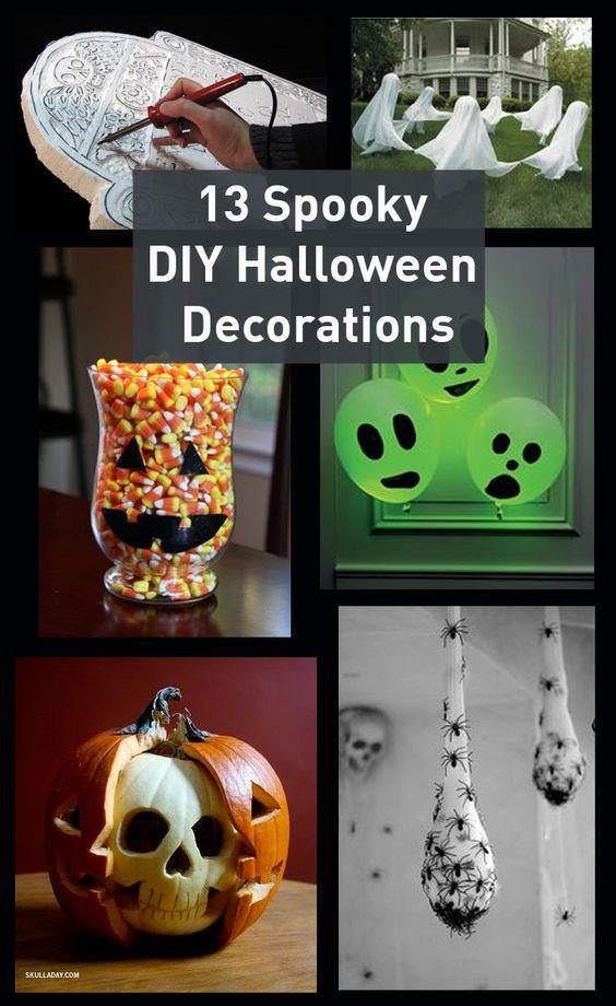 13 spooky DIY Halloween Decorations!  #diy #halloween #decorations http://www.remodelingmadeeasy.com/13-spooky-diy-halloween-decorations/