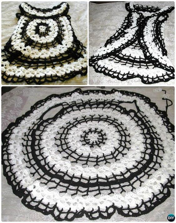 DIY Crochet Circular Vest Sweater Jacket Free Patterns ...