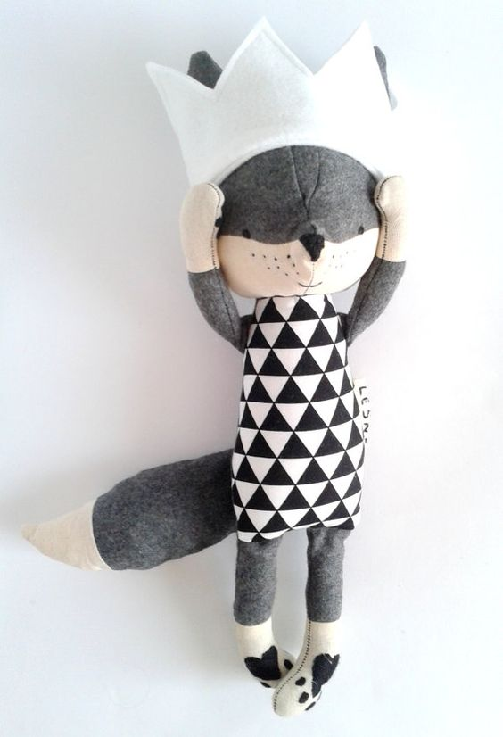 THEO Fuchs. Bestellung. Fuchs mit einer Krone. Wolle-Fox. Eco Fox. Geschenk für Kinder. gefüllte Fox. Spielzeug-Fox. Kinder Zimmer dekorativ Fuchs.