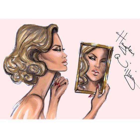 Hayden Williams Fashion Illustrations: 'Reflection' by Hayden Williams