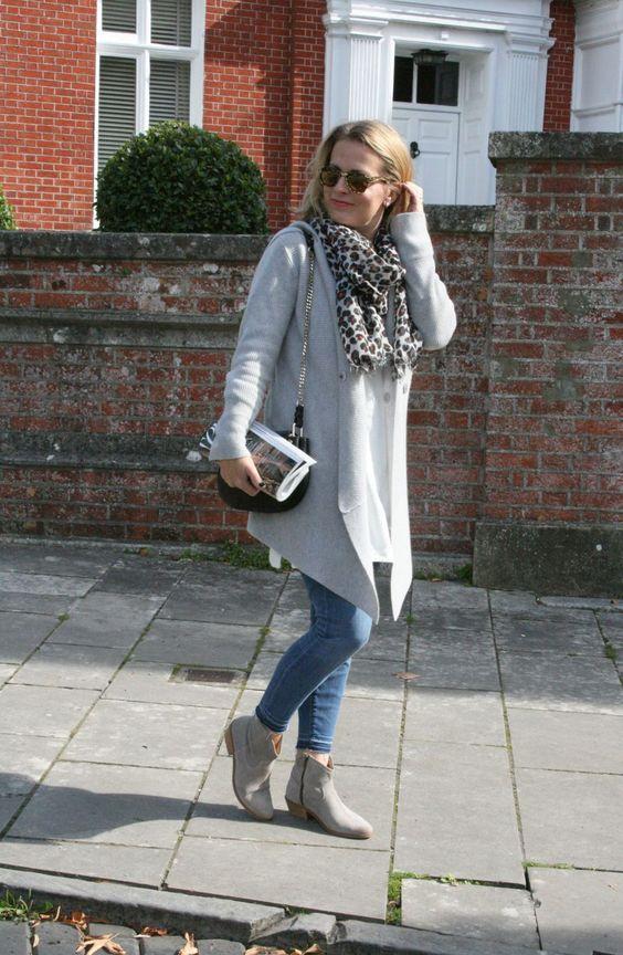 Autumn Staple: Grey Cashmere Cardigan - The Online Stylist
