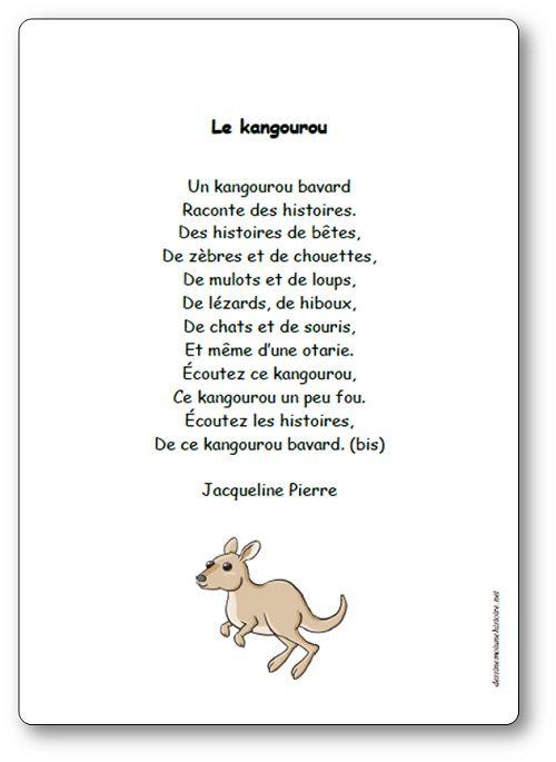 Le Kangourou Bavard De Jacqueline Pierre Paroles Illustrees De La Comptine Comptines Kangourou Dessine Moi Une Histoire