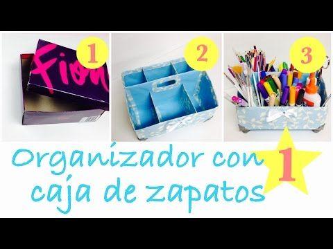 Como hacer un organizador facil con caja de zapatos tutoriales manualidades pinterest - Como hacer un organizador de zapatos casero ...