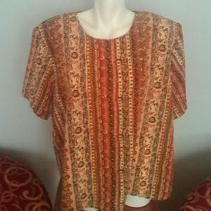 I just added this to my closet on Poshmark: Plus Size Womans Blouse 20W Notations Woman. Price: $10 Size: 20W