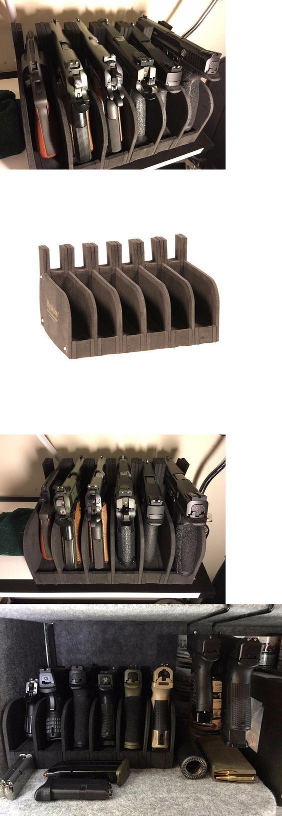 Double pistol handgun revolver gun display case cabinet rack shadowbox - Double Pistol Handgun Revolver Gun Display Case Cabinet Rack Shadowbox 64