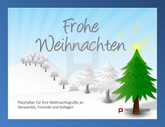 Oh Tannenbaum, Oh Tannenbaum, wie wunderschön passt du hier rein. Und zwar in unsere animierten Weihnachts-PowerPoint-Vorlagen! Kostenlos bei PresentationLoad: http://www.presentationload.de/weihnachtsvorlagen-animiert.html