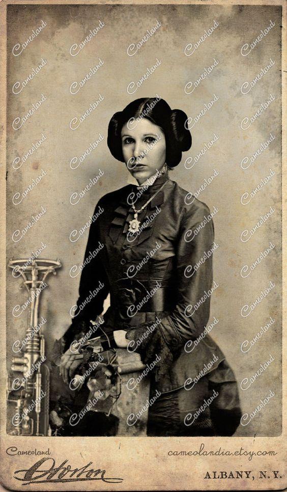 Leia Organa - STAR WARS - Steampunk Photoshop - Image 1441 X 2466 - DPI 72