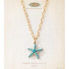 "Starfish Necklace 30"""