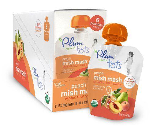 Plum Organics Tots Mish Mash-Peach, 3.17-Ounce (Pack of 12)