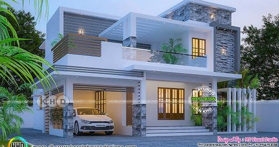 4 Bhk Stunning 2182 Square Feet Home Design Kerala House Design