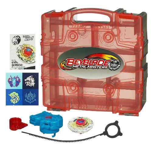 Beyblade Beylocker (colors may vary) by Beyblade. $14.10. Build up your arsenal. Can also be used to transport your collection. Great for keeping organized. Includes one top. Can also store launchers and spare parts. From the Manufacturer                Carrying Case for storing up to 10 of your Beyblades                                    Product Description                Beylocker (colors may vary)